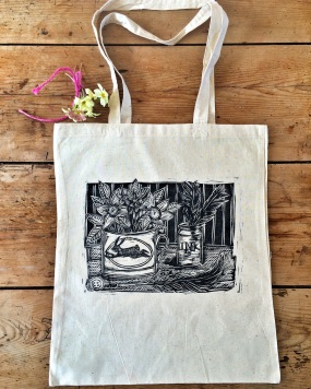 'Ink' Hand printed bag